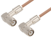 TNC Male Right Angle to TNC Male Right Angle Cable 60 Inch Length Using RG400 Coax -- PE3W00037-60 -Image