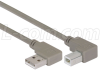 Right Angle USB Cable, Right Angle A Male/Left Angle B Male, 0.3m -- CA90RA-LB-03M - Image