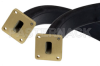 WR-62 Twistable Flexible Waveguide 36 Inch, UG-1665/U Square Cover Flange Operating From 12.4 GHz to 18 GHz -- PE-W62TF005-36 -Image