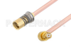 Snap-On BMA Jack to SMP Female Right Angle Cable 12 Inch Length Using RG405 Coax -- PE3C4898-12 -Image