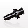Female Luer Lock to Barb, Black -- LF5131 -Image