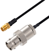 BNC Female to SMA Female Cable Assembly using LC141TBJ Coax, 4 FT -- LCCA30470-FT4 -Image
