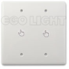 LED Touch Dimmer, 2 Gang Faceplate, 12-24V 8A 2 channel.. -- LC-LF-9DIM