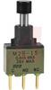 Pushbutton; PC; 1500 VAC; 1 A @ 125 VAC/30 VDC; SPDT; PC Straight; Silver -- 70192009