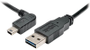 Universal Reversible USB 2.0 Cable (Reversible A to Left-Angle 5Pin Mini B M/M), 3-ft. -- UR030-003-LAB - Image