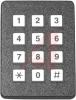 Keypad; 3 x 4 in.; Front Panel; 2.700 in.; 12 VDC; 100 Ohms (Max.); Black -- 70217214 - Image