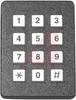 Keypad; 3 x 4 in.; Front Panel; 2.700 in.; 12 VDC; 100 Ohms (Max.); Black -- 70217214 - Image