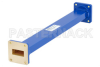 WR-112 Commercial Grade Straight Waveguide Section 12 Inch Length with UG-51/U Flange Operating from 7.05 GHz to 10 GHz -- PE-W112S001-12 - Image