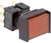 Switch,Pushbutton,NON-Illuminated,DPDT,Rectangular 2 SIDES GUARDED,RED,MOM. -- 70179904