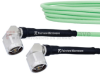 Low Loss RA N Male to RA N Male Cable LL142 Coax in 150 cm and RoHS with LF Solder -- FMCA1246-150CM -Image