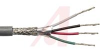 Cable; 4 cond; 22 AWG; Strand (7X30); Foil+braid shielded; Chrome jkt; 500 ft. -- 70005313 -- View Larger Image
