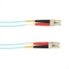 1-m, LC-LC, 50-Micron, Multimode, Plenum, Aqua Fiber Optic Cable -- FOCMP50-001M-LCLC-AQ - Image