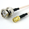 BNC Male to SMA Female Cable RG-316 Coax in 72 Inch -- FMC0813316-72 -Image