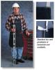 CPP(TM) Shop Aprons, Shoe Covers, and Spats; Denim shop apron, bib pocket, two side pockets; Size 28