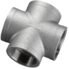 304 Stainless Steel Cast Pipe Fitting, Cross, Class 150,… -- K410-64 - Image