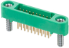 10+10 Pos. Male DIL Vertical Throughboard Conn. Screw-Lok Board Mount (T+R) -- G125-MV12005M2R -- View Larger Image