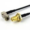 RA SMA Male to SMA Female Bulkhead Cable RG-174 Coax in 6 Inch -- FMC0412174-06 -Image