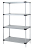 Wire Shelving - Solid Shelf Starter Kits - WR74-2460SG