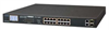 16-Port 10/100TX 802.3at PoE+ with 2-Port Gigabit TP/SFP Combo Ethernet Switch