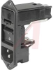 Module, Pwr Entry;AC Inlet and 2-Pole Fuseholder/Switch;Screw-On Mt;10A;250VAC -- 70080690