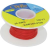 Wire; 100ft 26AWG silver plated copper;red Kynar insulated; low strip force -- 70176457