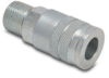 Air Coupling: quick-disconnect, steel, 1/4in ID 3/8in male NPT -- HC14-38M-A