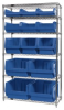 Bins & Systems - MAGNUM Bins (QMS Series) - Wire Shelving Units - WR6-13-MIX