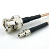 BNC Male to SMB Female Cable RG316-DS Coax in 120 Inch and RoHS -- SCB15409-120 -Image