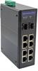 10 Port Industrial Ethernet DIN Rail Switch, 8x Gigabit RJ45 10/100/1000TX PoE 802.3at 30W/port 120W Total Budget, 2x SFP 1000FX