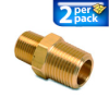 Connector Air Fitting: male, brass, for 1/2in NPT to 3/8in NPT, 2/pk -- BFMC-12N-38N -- View Larger Image
