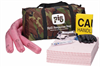 PIG HazMat Spill Kit in Camo Duffel Bag Absorbs up to 9.5 gal., Container Type - Portable Bag Spill Kits KIT398 -- KIT398
