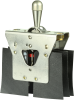 MICRO SWITCH AT Series Toggle Switch, 4 pole, 2 position, Screw terminal, Locking Lever -- 115AT2 -Image