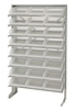 Bins & Systems - Clear-View Bins - Economy Shelf Bins - Sloped Shelving - Single Sided Pick Racks - QPRS-109CL - Image