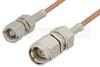 SMA Male to SMC Plug Cable 72 Inch Length Using RG178 Coax, RoHS -- PE3561LF-72 -Image