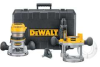 DEWALT 2.5 HP Fixed Base / Plunge Router Combo Kit -- Model# DW618PK