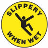 Slippery When Wet Slip-Gard Floor Sign -- SGN849