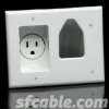 Recessed Low Voltage Cable Plate with Recessed Power -- 1018-SF-56