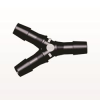 Y Connector, Barbed, Black -- HY1231 -Image