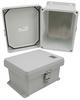 8x6x4 Inch UL® Listed Weatherproof NEMA 4X Enclosure with Blank Aluminum Mounting Plate -- NB080604-KIT -Image