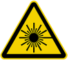 1 inch Laser Hazard Symbol (LHS) Equilateral Triangle Label (25mm) - Image