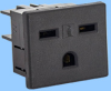 15A/250V North American Snap-In Receptacle -- 88244100 -Image