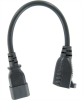 1ft 18 AWG Monitor Power Adapter Cord (NEMA 5-15R to IEC320 C14) -- P7PA-01