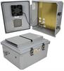 14x12x06 Polycarb Weatherproof NEMA 3R Encl 120VAC Mnt Plt Mech Therm Heat & 85F Turn on Fan Drk Gry -- NBPC141206-1HF-1 -Image