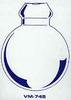 Round Bottom Flask BLANKS -- VM745-14