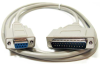 10ft DB9 Female to DB25 Male 8C HP Plotter - Laser Serial Printer Cable -- HP41-10 - Image