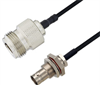 BNC Female Bulkhead to N Female Cable Assembly using LC085TBJ Coax, 5 FT -- LCCA30640-FT5 -Image