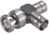 Coaxial T-adaptor, 1 Plug, 2 Jacks, Asymmetric -- Type 45_BNC-50-0-2/133_NE - 22652370