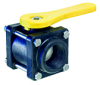 Polypropylene Ball Valves -- 4-Bolt Valve Design - Image