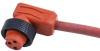 Mini-Link Plug Assembly, Hi-Temp silicone, Female 90 deg, 3 pole, 12', 16 AWG -- 103C0120AHT - Image