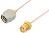 SMA Male to SMA Female Cable 12 Inch Length Using PE-034SR Coax, RoHS -- PE34226LF-12 -Image